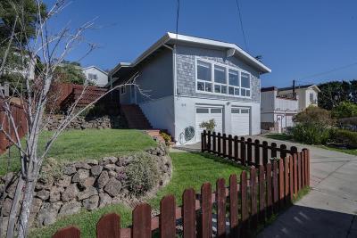 El Granada Single Family Home For Sale: 649 Palma St