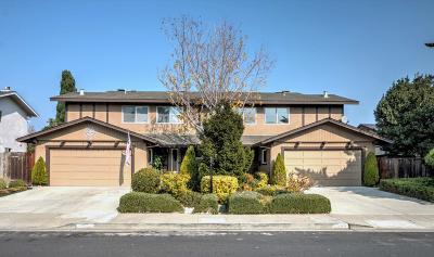 FOSTER CITY Multi Family Home For Sale: 807-809 Comet Dr