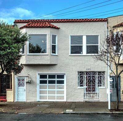 SAN FRANCISCO Single Family Home For Sale: 891 46th Ave