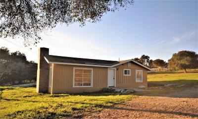 Monterey County Single Family Home For Sale: 17655 Moro Rd