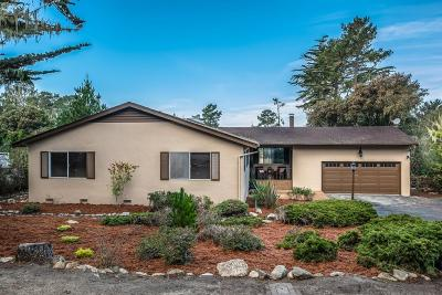 Pebble Beach Single Family Home For Sale: 3054 Strawberry Hill Rd