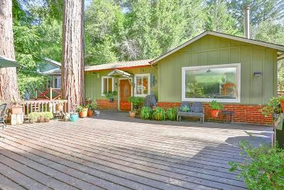BOULDER CREEK Single Family Home For Sale: 160 Buena Vista Ave