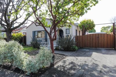 REDWOOD CITY Single Family Home For Sale: Fay St