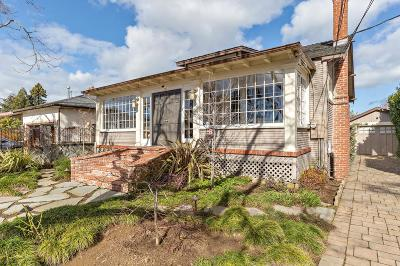 BURLINGAME Single Family Home For Sale: 116 Victoria Rd