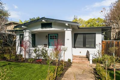 Palo Alto Single Family Home For Sale: 159 Waverley St