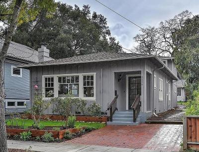 PALO ALTO Single Family Home For Sale: 2256 Bowdoin St