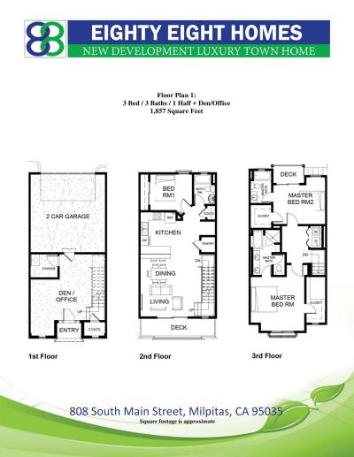 Milpitas Townhouse For Sale: 808 S Main St 142