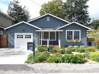 Menlo Park Single Family Home For Sale: 1756 Croner Ave