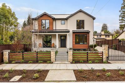 BURLINGAME CA Single Family Home For Sale: $5,495,000