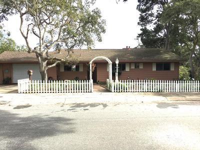 Monterey Single Family Home For Sale: 107 Via Del Pinar