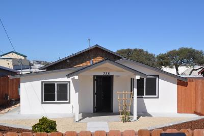 SEASIDE Single Family Home For Sale: 735 Palm Ave