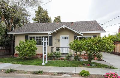 REDWOOD CITY Single Family Home For Sale: 1860 Harding Ave