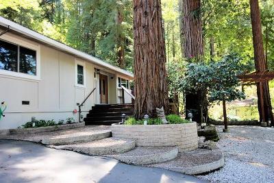 Boulder Creek Single Family Home For Sale: 113 Rollingwood Dr