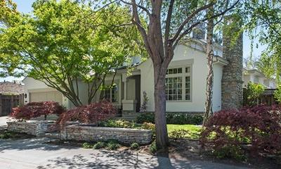 MENLO PARK Single Family Home For Sale: 1131 Hobart St