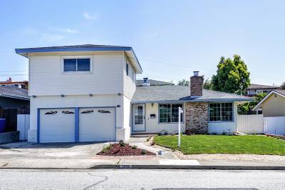 MILLBRAE Single Family Home For Sale: 1116 Elmwood Dr