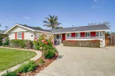 SANTA CLARA Single Family Home Contingent: 1010 Teal Dr