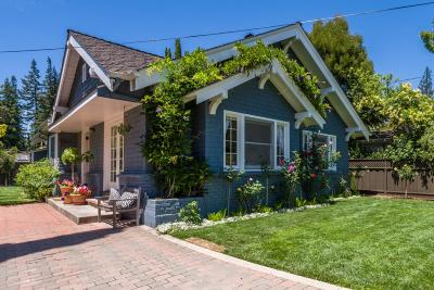 MENLO PARK Single Family Home For Sale: 2044 Ashton Ave