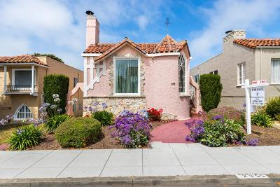 San Francisco County Single Family Home For Sale: 2955 21st Ave
