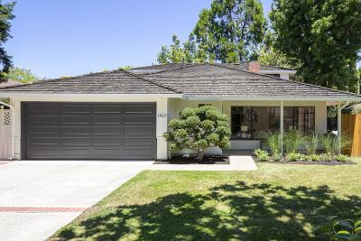 PALO ALTO Single Family Home For Sale: 1863 Edgewood Dr