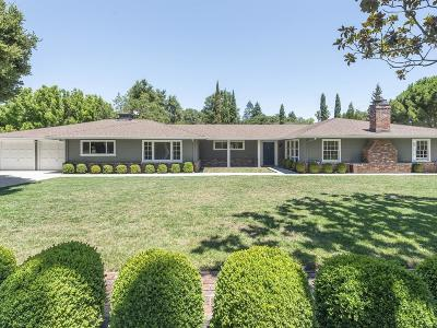 Atherton Single Family Home For Sale: 199 Toyon Rd