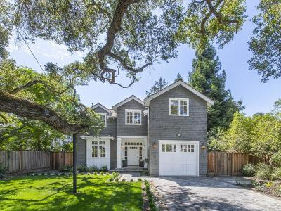 Atherton Single Family Home For Sale: 58 Northgate
