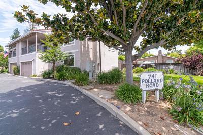 LOS GATOS Townhouse For Sale: 741 Pollard Rd 1