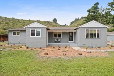 Half Moon Bay Single Family Home For Sale: 12340 San Mateo Rd