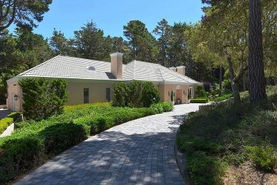 PEBBLE BEACH CA Single Family Home For Sale: $2,850,000