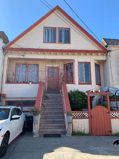 San Francisco Single Family Home For Sale: 31 Lessing St