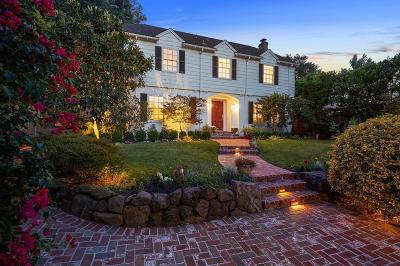 BURLINGAME Single Family Home For Sale: 1821 Ralston Ave