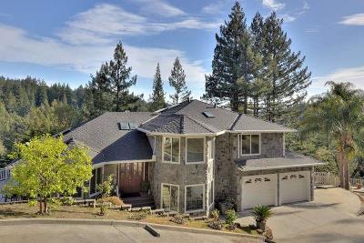 Santa Cruz County Single Family Home For Sale: 23050 Old Logging Rd
