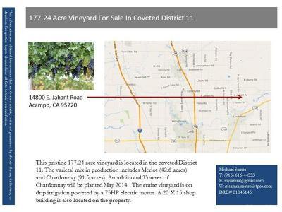 Acampo CA Commercial Lots & Land For Sale: $8,000,000