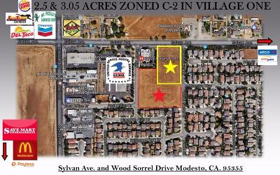 Modesto Commercial Lots & Land For Sale: Sylvan Avenue