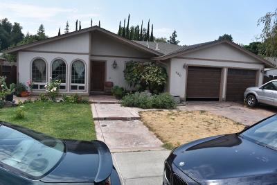 Single Family Home For Sale: 860 Donner Way