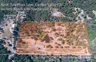 Garden Valley CA Single Family Home For Sale: $799,000
