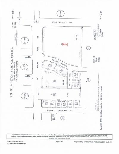 Alameda County, Contra Costa County, Sacramento County, Stanislaus County Commercial Lots & Land For Sale: Morgan Road