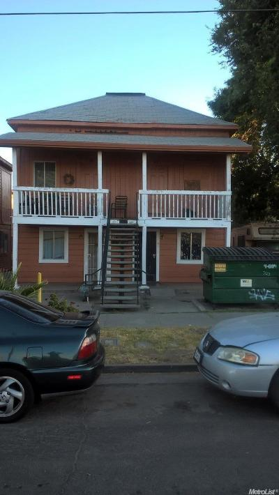 Stockton Multi Family Home For Sale: 709 East Hazelton Avenue