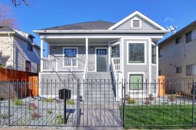 Sacramento Single Family Home For Sale: 2711 U Street