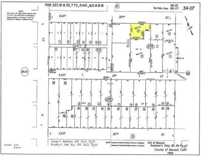 Merced Residential Lots & Land For Sale: East 22nd