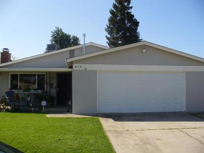Manteca Single Family Home For Sale: 870 Del Monte Court