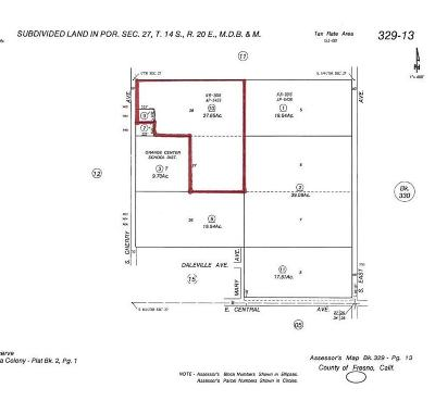 Fresno CA Commercial Lots & Land For Sale: $4,982,250