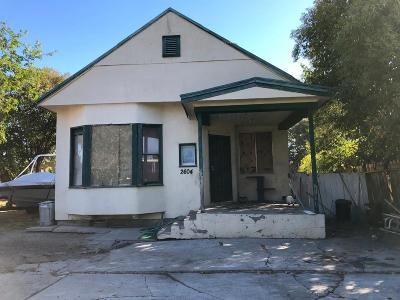 Stockton Single Family Home For Sale: 2604 North E Street