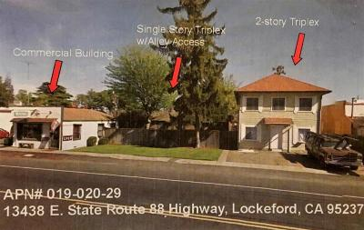 Lockeford Multi Family Home For Sale: 13438 East State Route 88 Highway