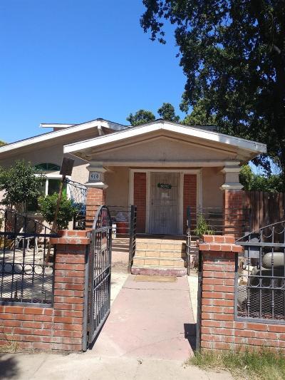 Stockton Single Family Home For Sale: 910 Pleasant Avenue