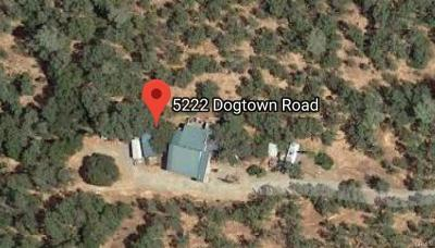 Mariposa County Single Family Home For Sale: 5222 Dogtown Road