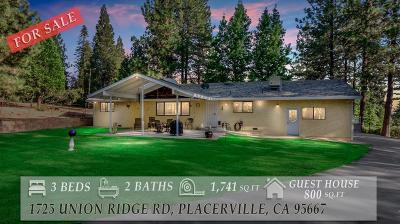 Placerville CA Single Family Home For Sale: $669,000