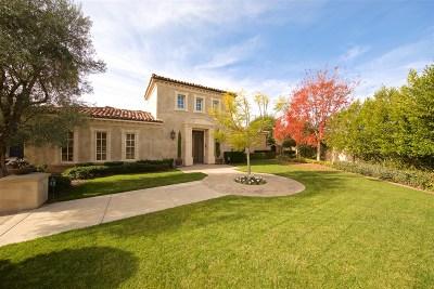 Rancho Santa Fe Single Family Home For Sale: 18662 Via Varese