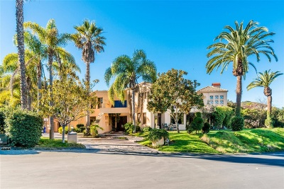 Rancho Santa Fe Single Family Home For Sale: 6395 Clubhouse Drive