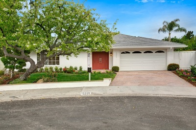 Rancho Santa Fe Single Family Home Sold: 16205 Via Monterey