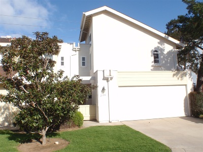 Ocean Beach, Ocean Beach/Point Loma, Ocean Obeach Townhouse For Sale: 2386 Caminito Afuera